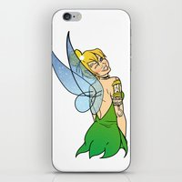 tinker bell iPhone & iPod Skins featuring Tinker Bell by NOBODY's Art