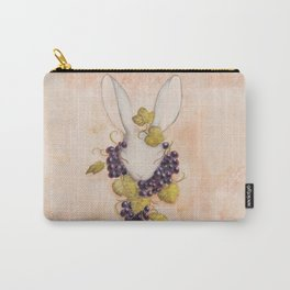 Rabbit and Grapes Carry-All Pouch