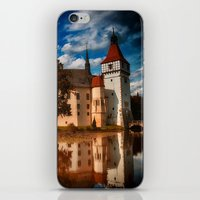 castle iPhone & iPod Skins featuring Castle by DistinctyDesign