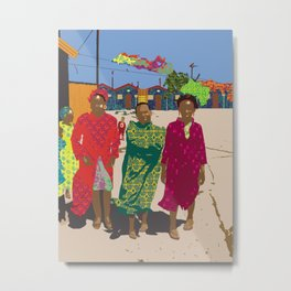 African women in township Metal Print