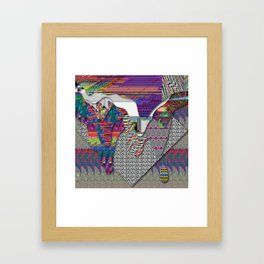 drippy internet Framed Art Print