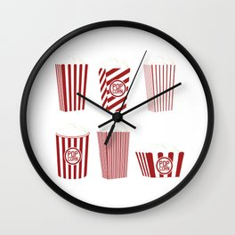 Movie and Popcorn Time Wall Clock