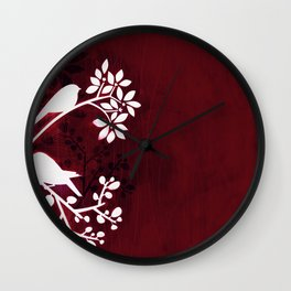 Perching Birds by Friztin Wall Clock