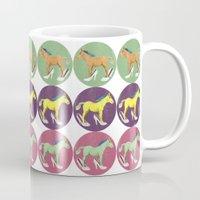 horses Mugs featuring Horses by Lorenza Bluetiz