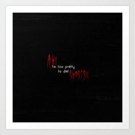 Ah! Ghosts! Art Print