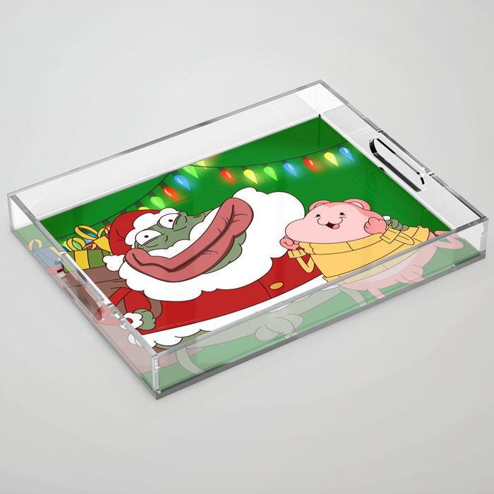 Merry Xmas Peepoodo Acrylic Tray