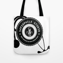 Sapiophile Studio Logo Skeleton Stethoscope Tote Bag