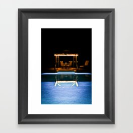 A Swim At Midnight Framed Art Print