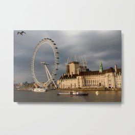 The London Eye On The South Bank Metal Print