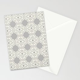 Maddie Modern Tile in Gray Stationery Cards