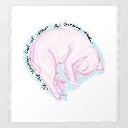 PinkCat Art Print