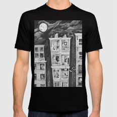 Downtown MEDIUM Black Mens Fitted Tee