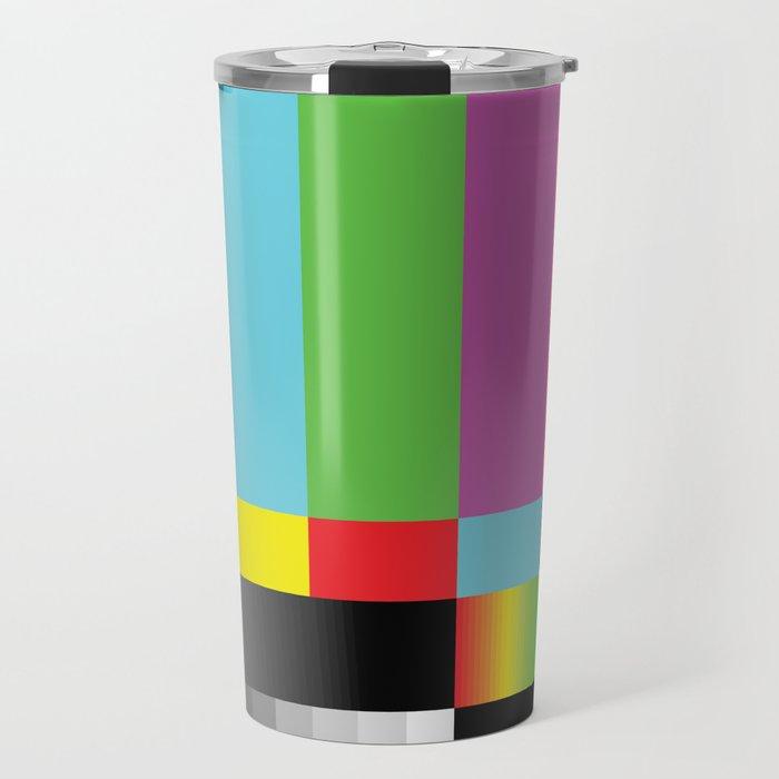 Color Bars Travel Mug
