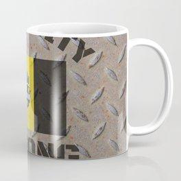 Pittsburgh Steel City Strong Flag On Metal Background Coffee Mug