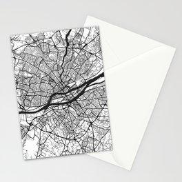 Nantes Map Gray Stationery Cards