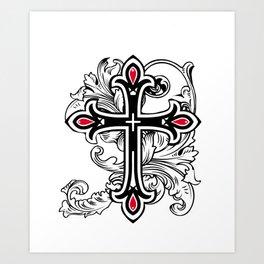Ghotic cross Art Print