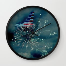 Let's Remember July 4th Wall Clock
