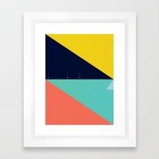 Secret Surf Map (High Tide) — Matthew Korbel-Bowers Framed Art Print