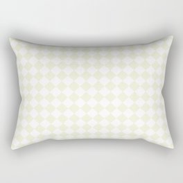 Small Diamonds - White and Beige Rectangular Pillow