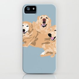 3 Golden Retrievers iPhone Case