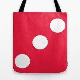 Red Dice 3 Tote Bag