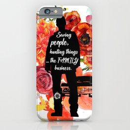 Dean Winchester Quote iPhone Case