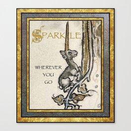 Sparkle Wherever You Go Canvas Print