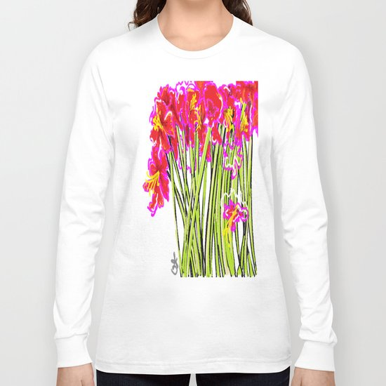 Red Flowers again, Hybiscus Long Sleeve T-shirt