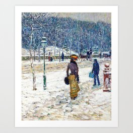 Frederick Childe Hassam - New York Street - Digital Remastered Edition Art Print