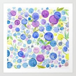 Blueberries' Dream Art Print