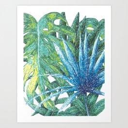 Philodendron & Flora Art Print