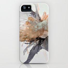 Ink Flower Orange iPhone Case