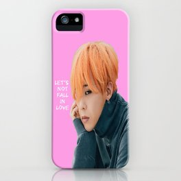 Bigbang MADE Let's Not Fall In Love G-Dragon Pink iPhone Case