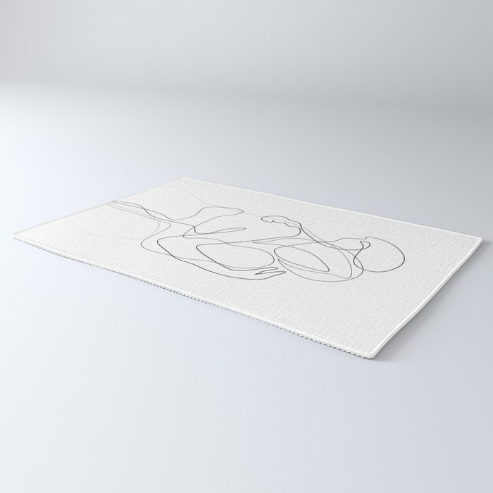 Lovers - Minimal Line Drawing Rug