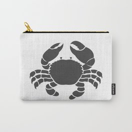 Black crab design on white background. Wild Animals. Amphibians Carry-All Pouch
