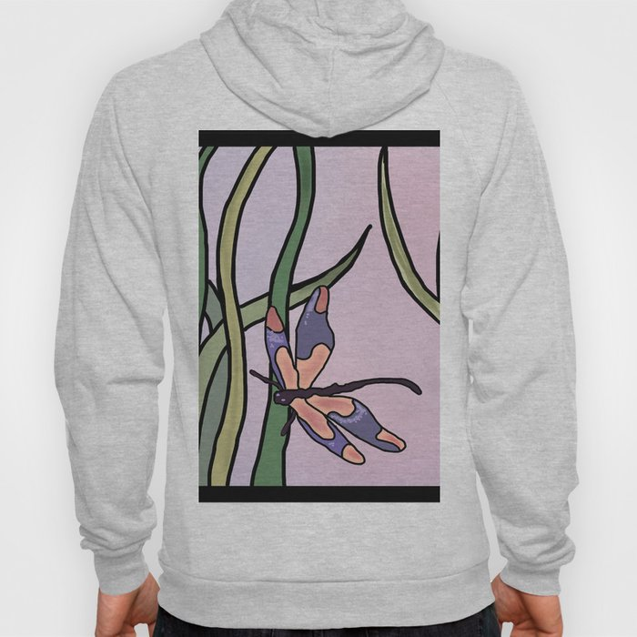 dragonflies in  a pastel color background Hoody