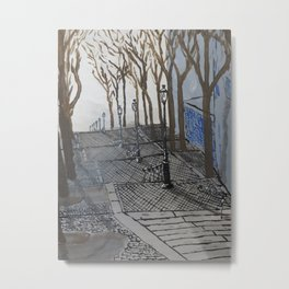 Stairs in Montmartre (Escalier de la butte Montmartre), Paris 18e Metal Print