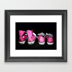 Pink Shoes Framed Art Print
