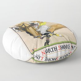 1923 Polo By The North Shore Line Transit Poster Floor Pillow