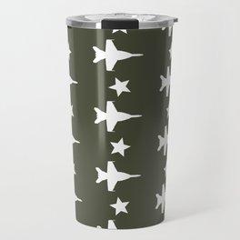 F-18 Hornet Fighter Jet Pattern Travel Mug