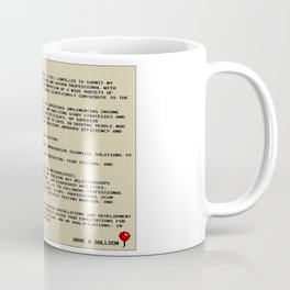 IT Manager Cover Letter Coffee Mug