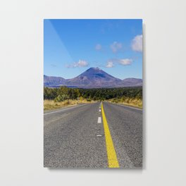 New Zealand Road | Volcano Tongariro National Park (North Island) | Colorful Travel Photography Metal Print