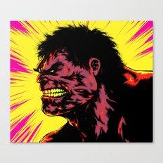 Hulk - Neon Canvas Print