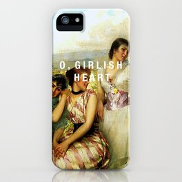 o, girlish heart iPhone Case