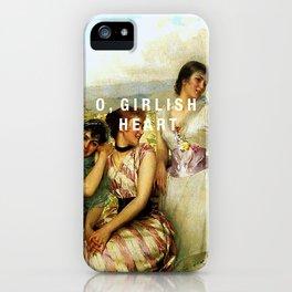 o, girlish heart iPhone Case