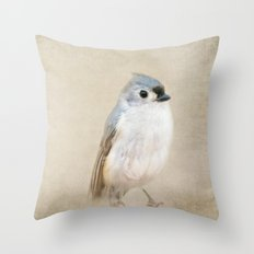 Bird Little Blue Throw Pillow
