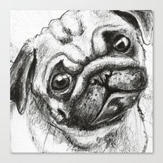 Pug Nº2 Canvas Print