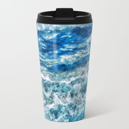 Sea foam waves Metal Travel Mug