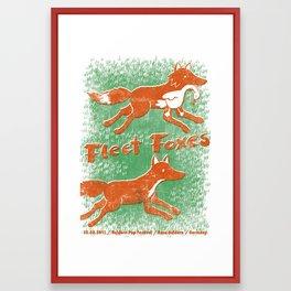 Fleet Foxes Gigposter Framed Art Print