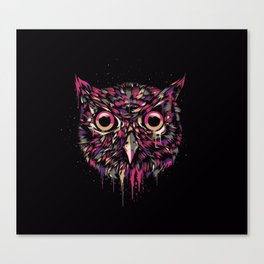 Colored Owl Canvas Print
